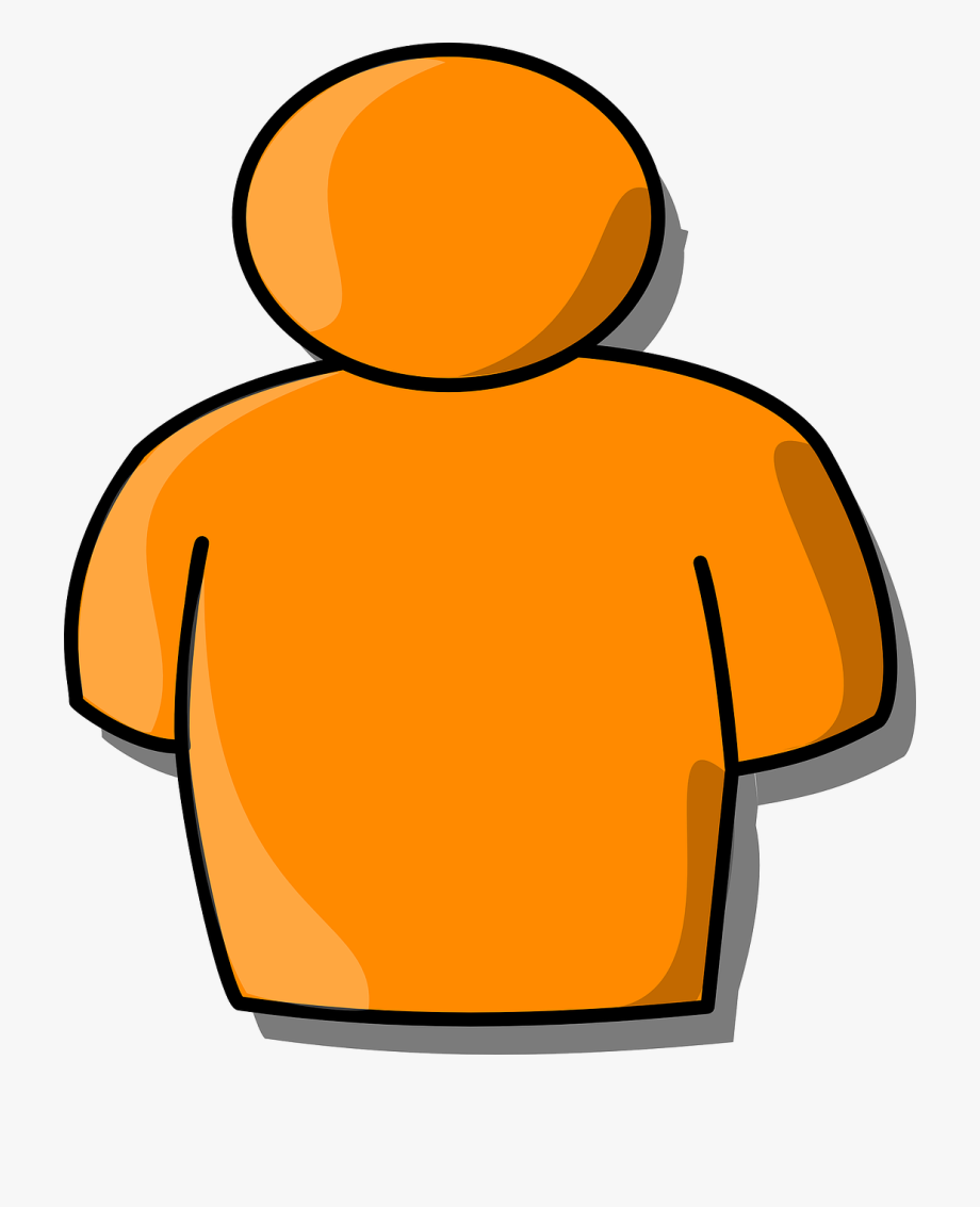 Upper body clipart graphic royalty free stock Body Upper Chest Shoulders Orange Man Person - Clip Art ... graphic royalty free stock
