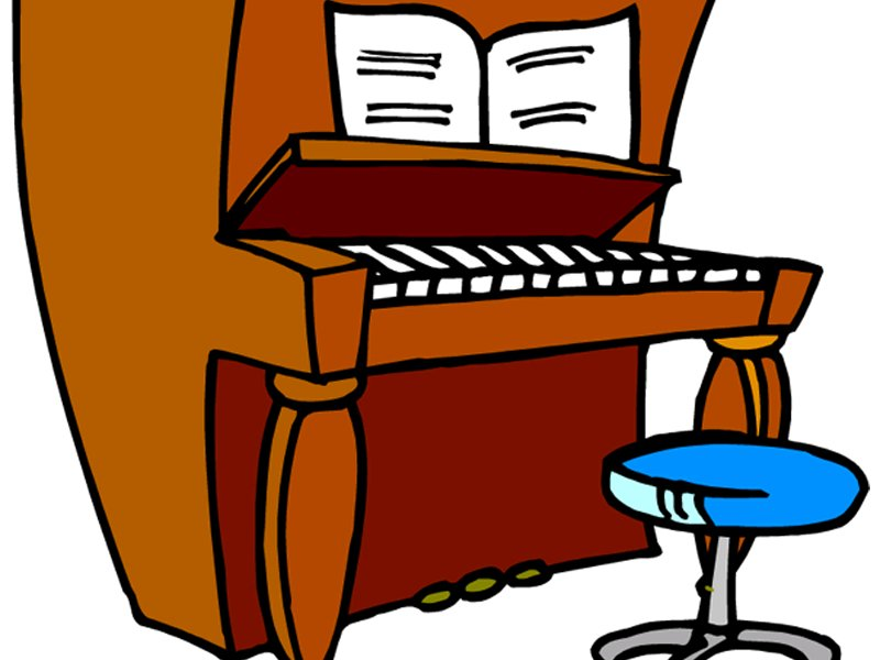 Upright piano clipart image black and white library Piano cartoon clipart - Clip Art Library image black and white library