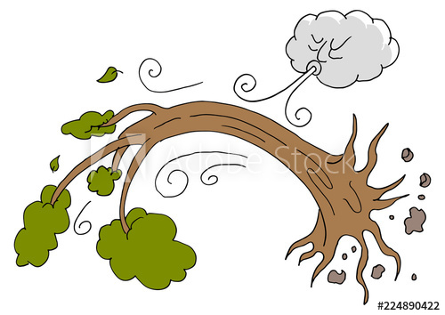 Uprooted tree clipart jpg freeuse library Tree Uprooted Hurricane Windy Day Cloud - Buy this stock ... jpg freeuse library