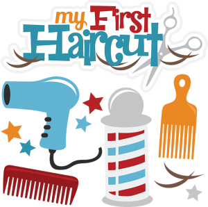Upsherin clipart vector royalty free library My First Haircut-Boy | Cuttable Scrapbook SVG Files | First ... vector royalty free library