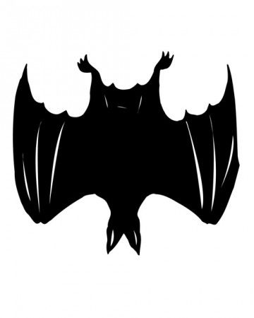 Upside down bat clipart clipart transparent download Spooky Silhouettes: Bat Pumpkin | A Haunting Halloween ... clipart transparent download