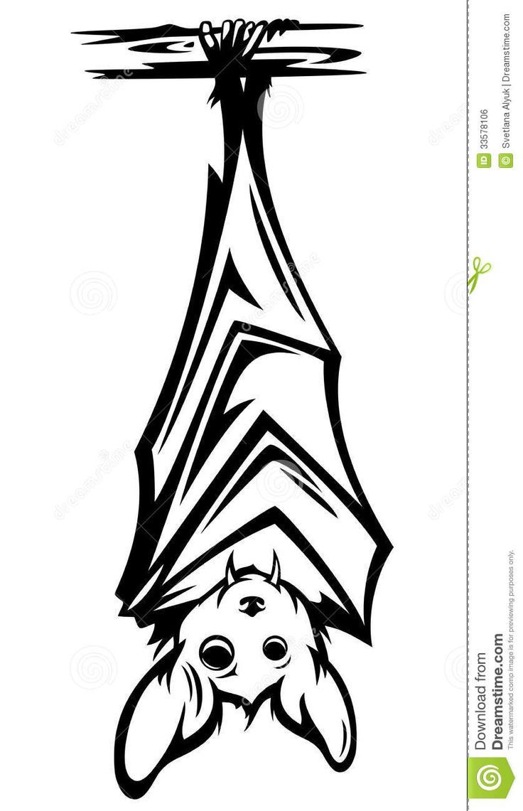 Upside down bat clipart banner black and white stock Image result for upside down bat silhouette | Quick Saves ... banner black and white stock