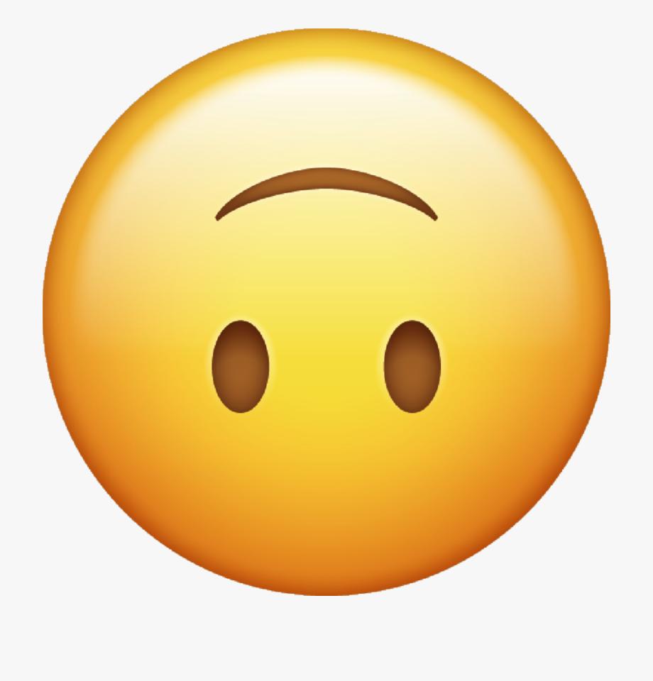 Upside down smiley emoji clipart vector Emoji Stickers Clipart - Upside Down Smile Emoji ... vector