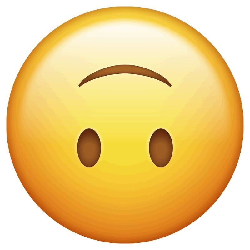Upside down smiley emoji clipart clip transparent upside down smiley face emoji   Art Print clip transparent