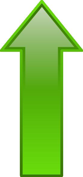 Upward arrow clip art image Arrow-up-green Clip Art at Clker.com - vector clip art online ... image