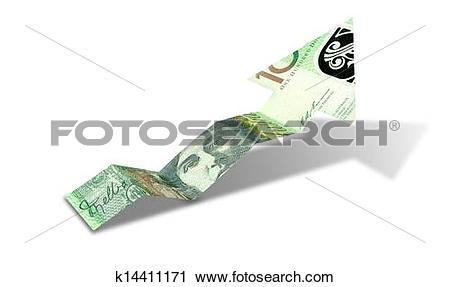 Upward trend clipart clip art transparent library Clipart of Australian Dollar Bank Note Upward Trend Arrow ... clip art transparent library