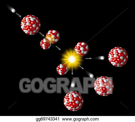 Uranium rod clipart graphic royalty free stock Drawing - Nuclear fission of uranium. Clipart Drawing ... graphic royalty free stock
