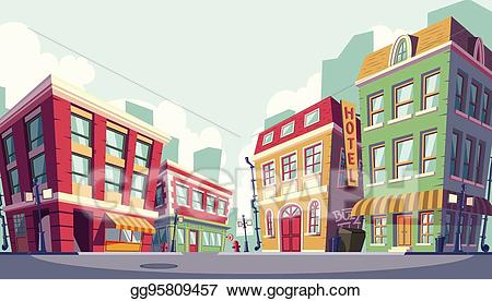 Urban area clipart clip art download EPS Vector - Vector cartoon illustration of the historic ... clip art download