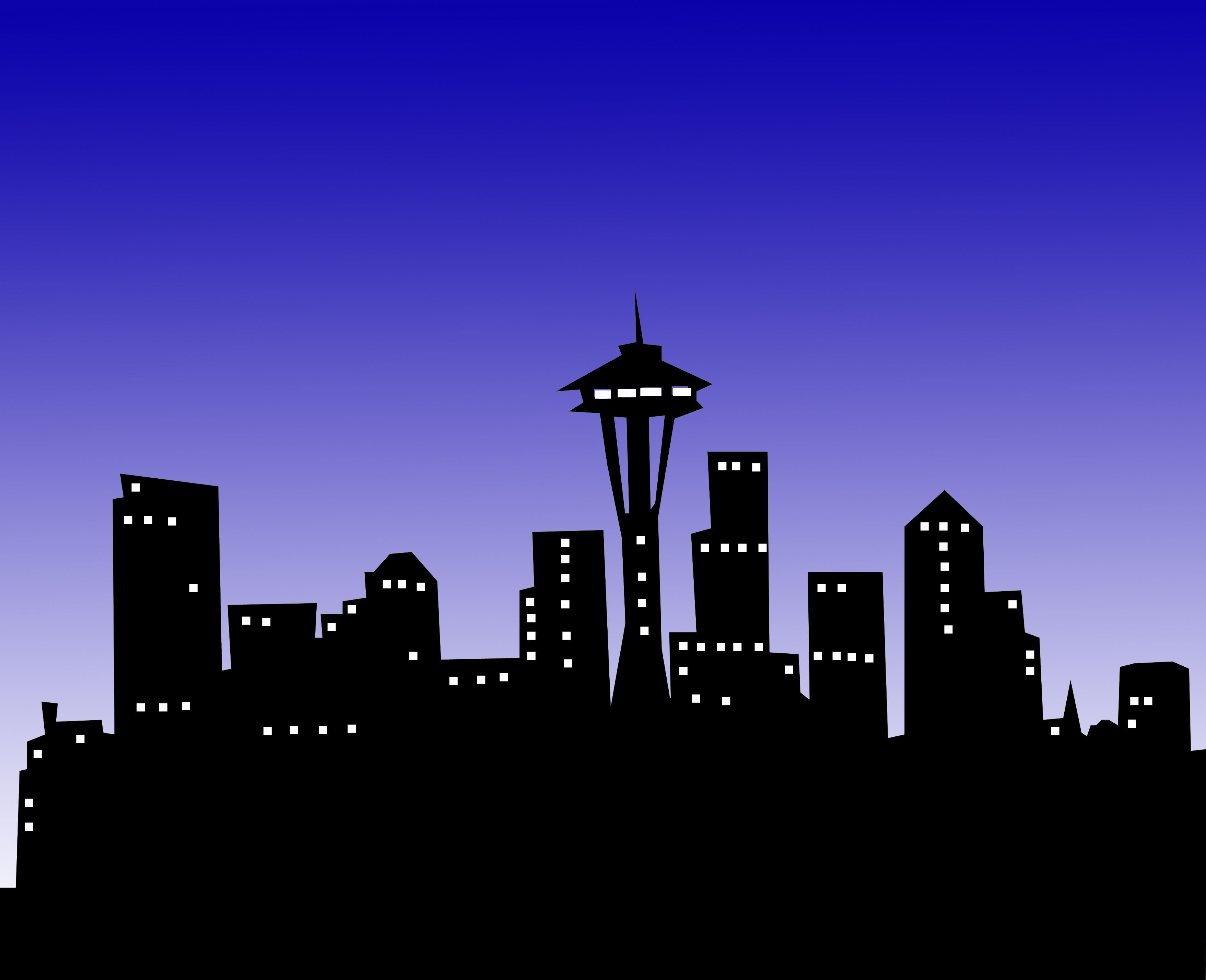 Urban background ms word clipart graphic royalty free stock Seattle Night Out | Art in 2019 | City skyline night ... graphic royalty free stock