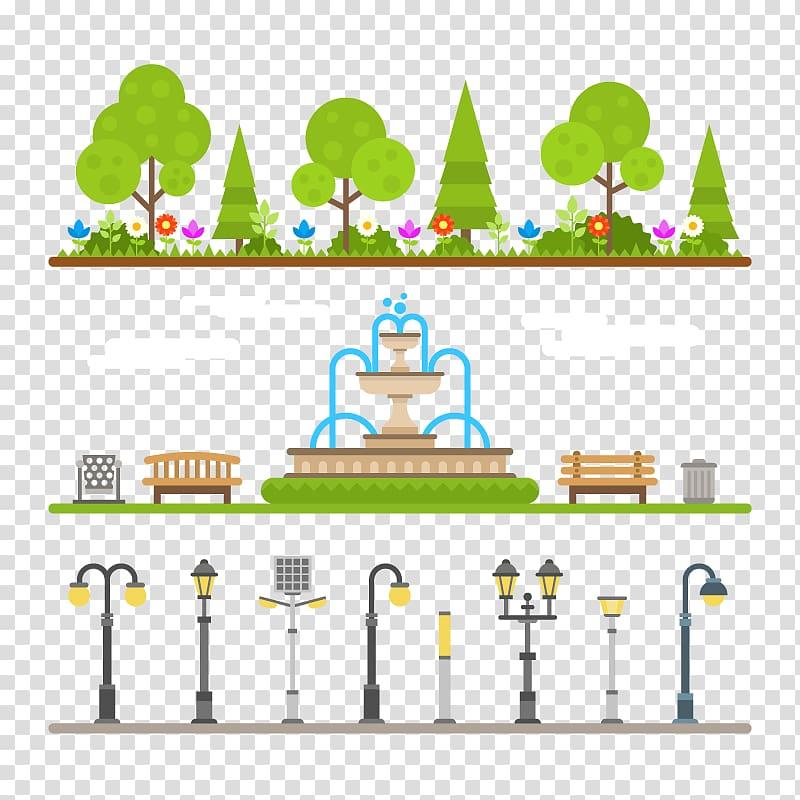 Urban garden clipart svg freeuse download Urban park Municipal park Eng Salvador Arena Euclidean ... svg freeuse download