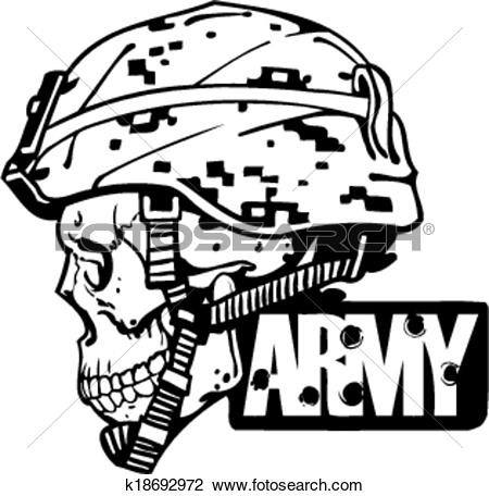 Us army clip art clip freeuse Clipart of US Army Military Design - Vector illustration ... clip freeuse