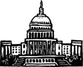 Us capitol clip art vector black and white library Clipart of US Capitol us_captl - Search Clip Art, Illustration ... vector black and white library