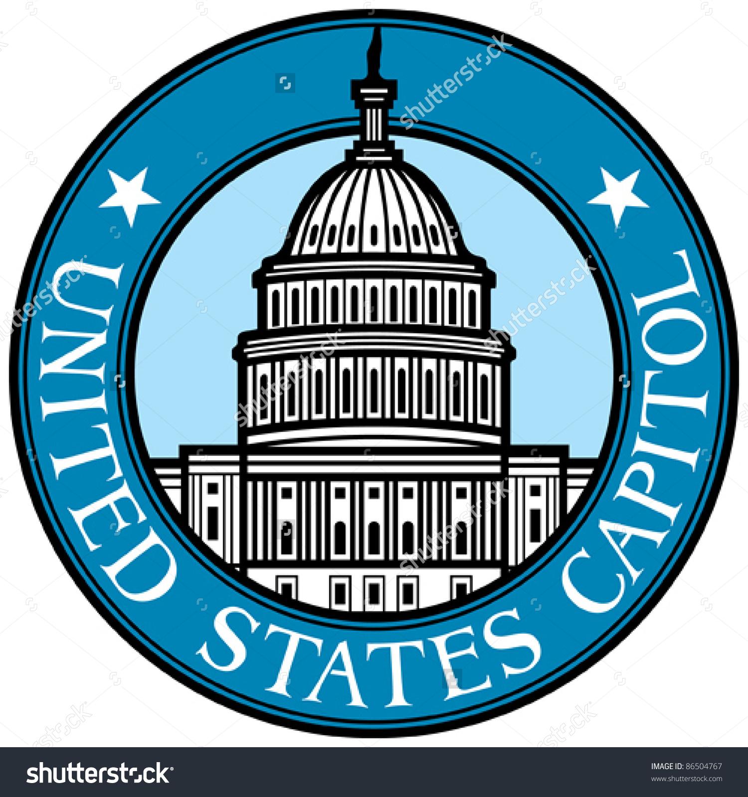 Us capitol clip art vector United States Capitol Stock Vector 86504767 - Shutterstock vector