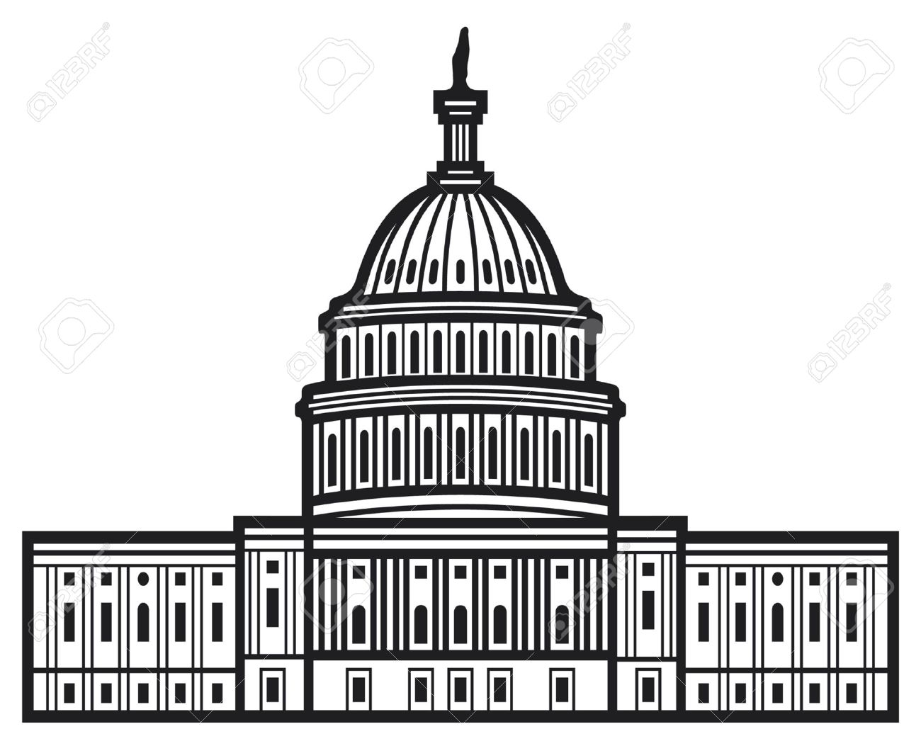 Us capitol clip art clip royalty free library Us capitol dome clipart - ClipartFest clip royalty free library