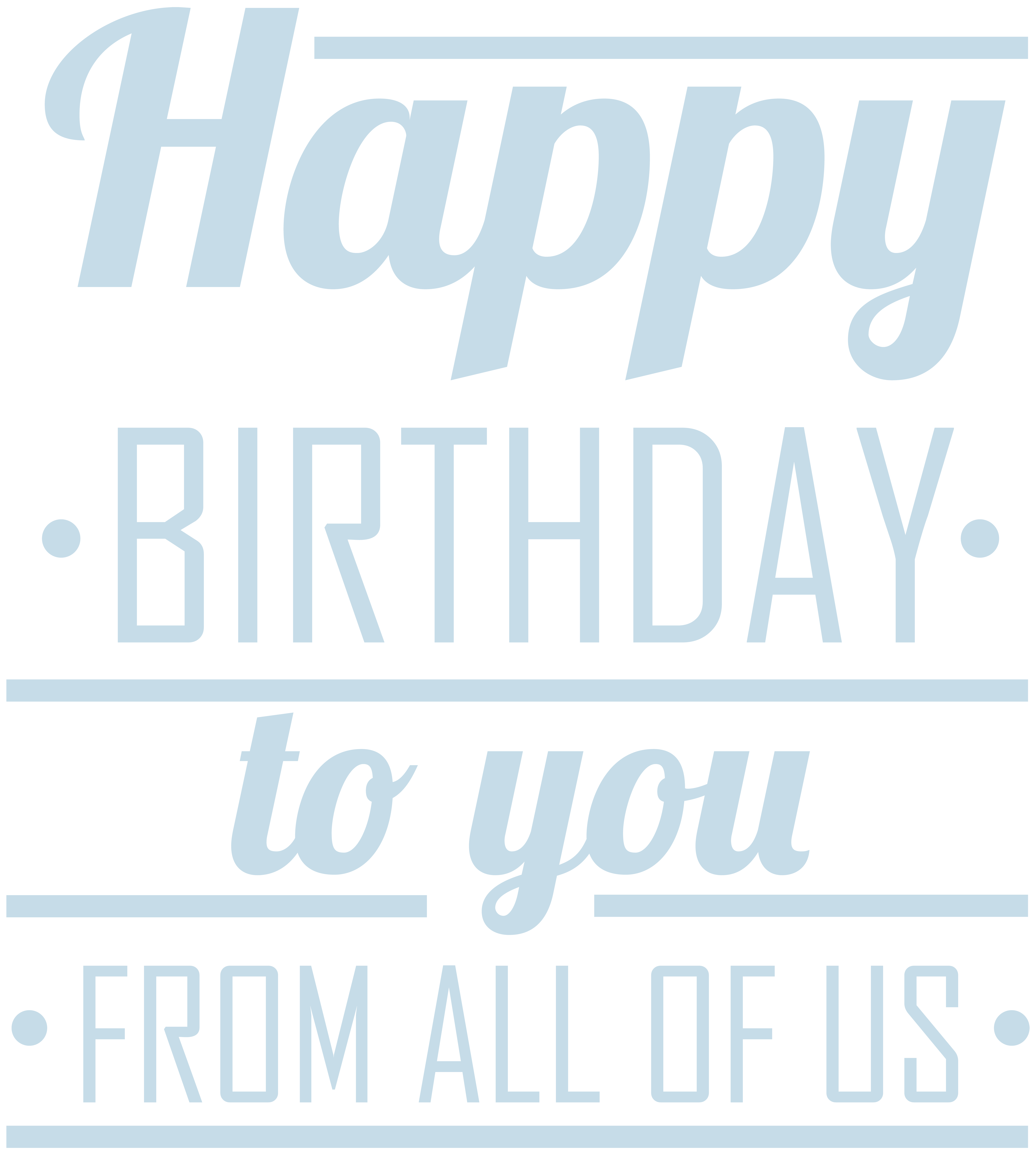 Us clip art image transparent Happy Birthday to You from All of Us PNG Clip Art   Gallery ... image transparent
