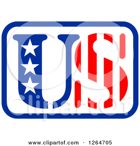Us clipart picture royalty free Clipart of a Patriotic American Stars and Stripes US Design ... picture royalty free