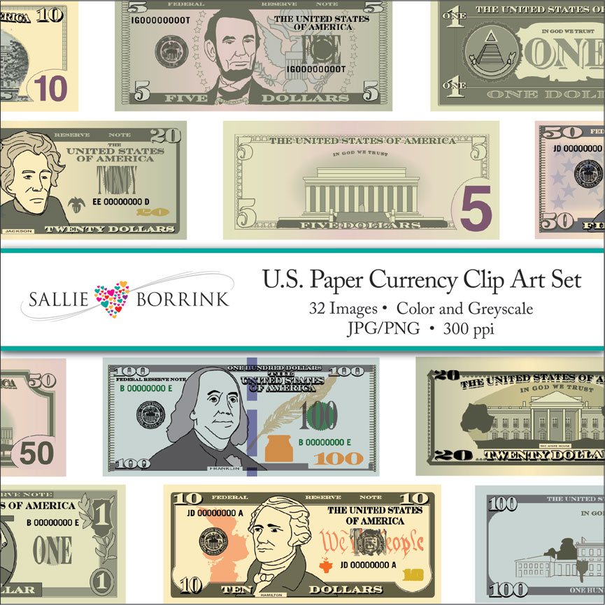 Us currency clipart free graphic stock U.S. Currency Clip Art - SallieBorrink.com graphic stock