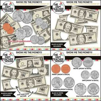 Us currency clipart free jpg U.S. Currency : Money and Coin Digital Clip Art | Coins, The o ... jpg