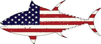 Us flag and ocean clipart vector black and white Amazon.com: WickedGoodz Circle American Flag Tuna Vinyl ... vector black and white