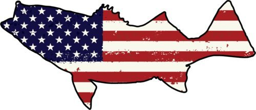 Us flag and ocean clipart image transparent WickedGoodz Die Cut American Flag Striper Vinyl Decal - Bass Fishing Bumper  Sticker - Perfect Ocean Angler Gift image transparent