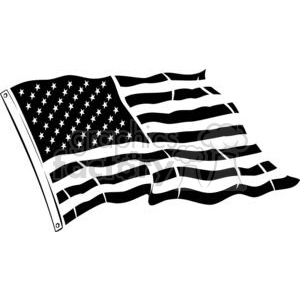 Usa flag black and white clipart clipart freeuse stock Black and white United States flag clipart. Royalty-free clipart # 379774 clipart freeuse stock