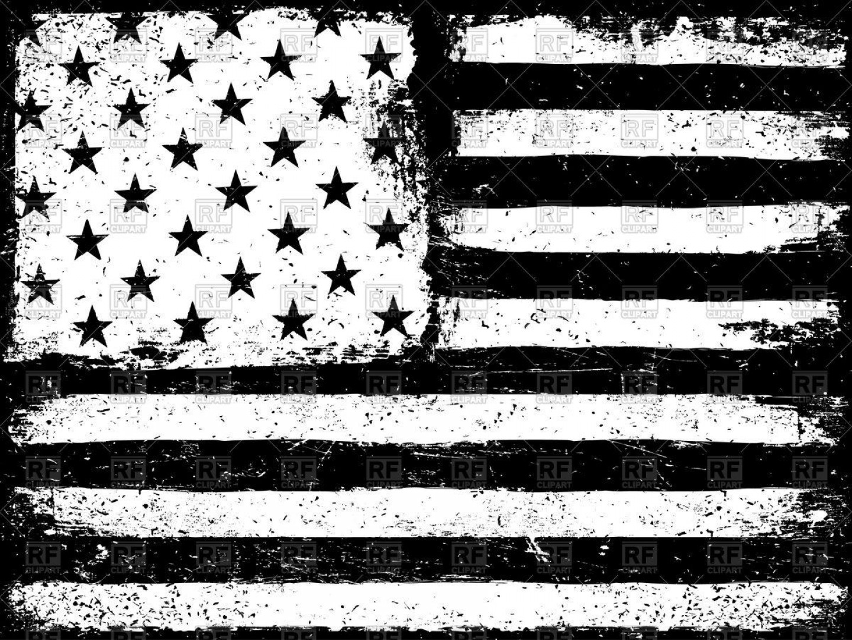 Us flag black and white clipart clip art transparent Best Free United States Flag Vector Black And White Images ... clip art transparent