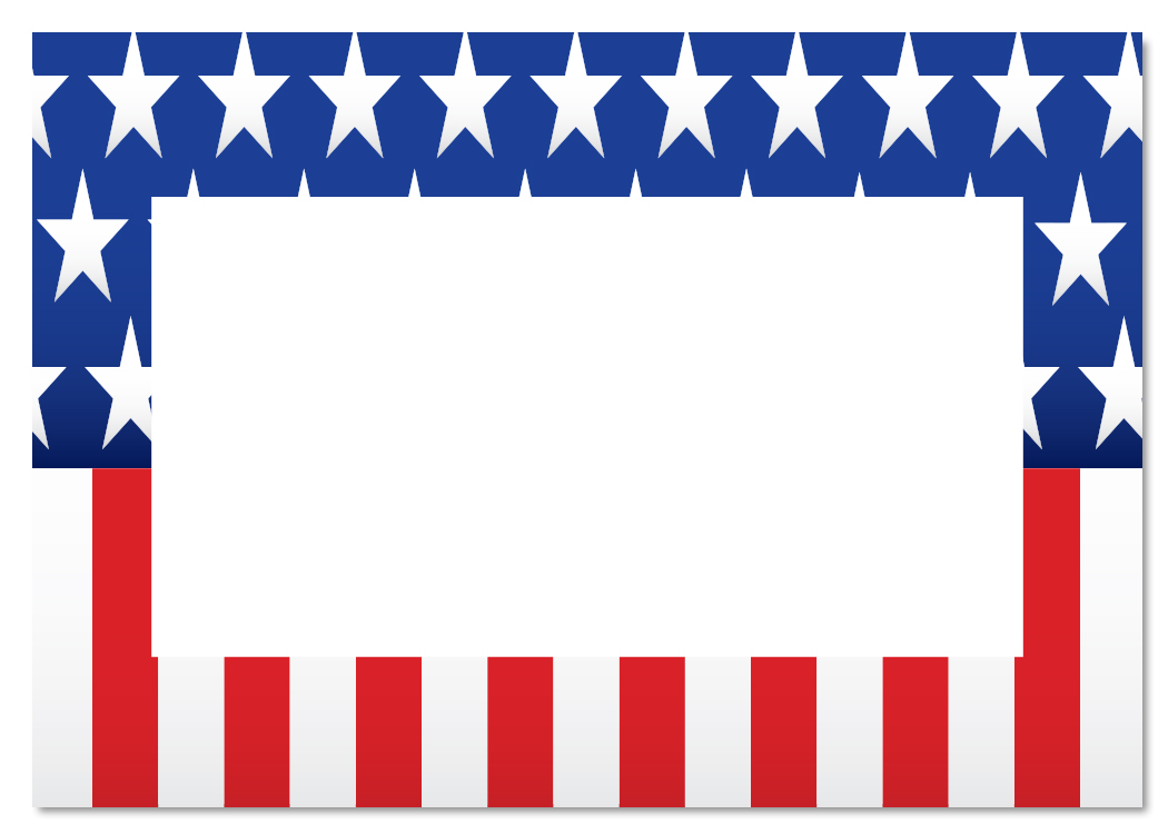 Us flag border clipart