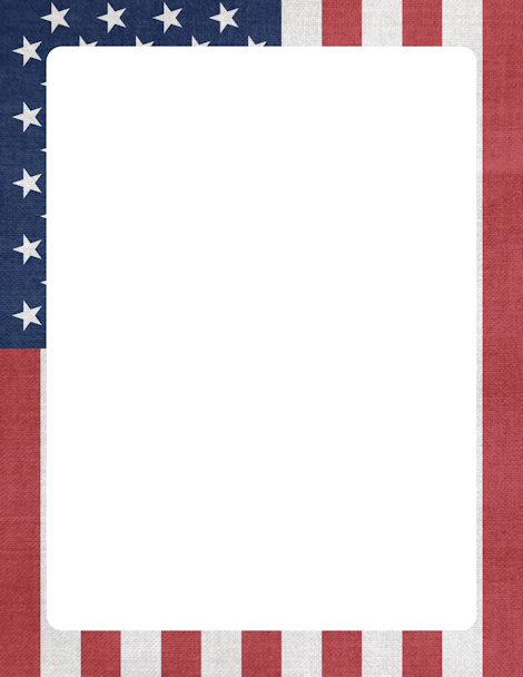 Us flag page clipart border image library library Pin by Muse Printables on Page Borders and Border Clip Art ... image library library