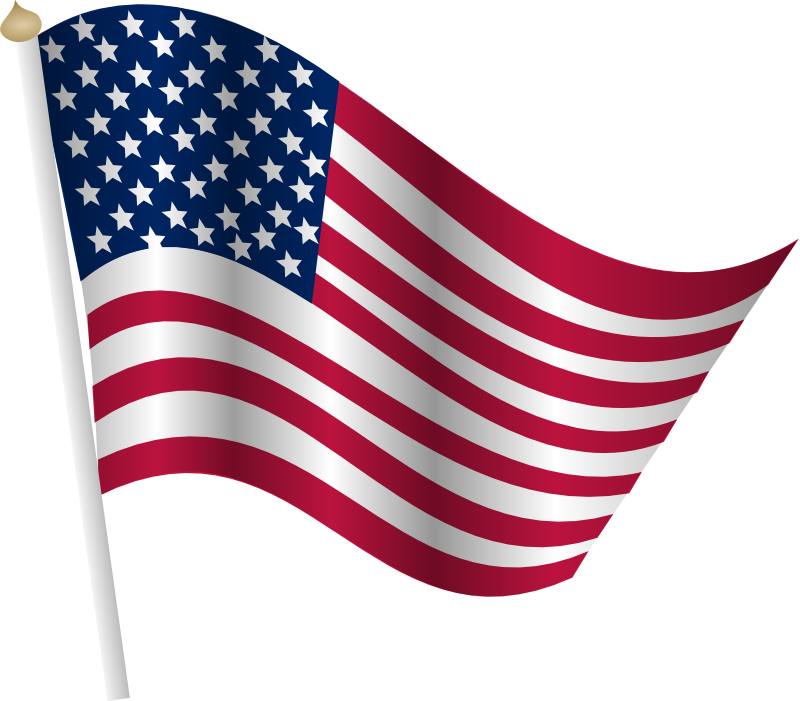 Us flag clipart free graphic library library American flag clip art free - Clipartix graphic library library