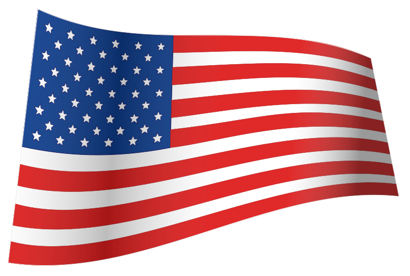 Us flag clipart free transparent File:US Flag - iconic waving.svg - Wikimedia Commons transparent