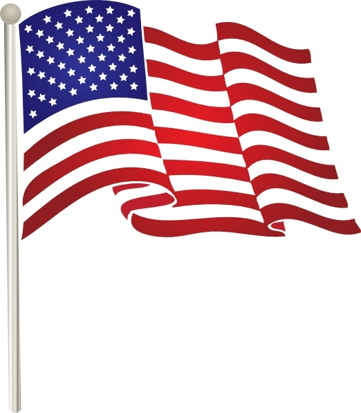 Us flag clipart free vector stock Usflag clip art Free vector in Open office drawing svg ... stock