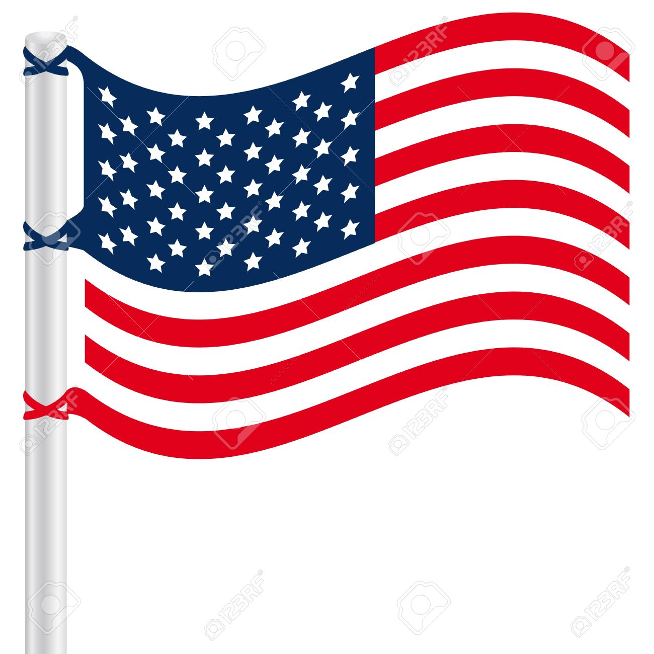 Us flag clipart vector png transparent Waving flag clipart vector - ClipartFest png transparent