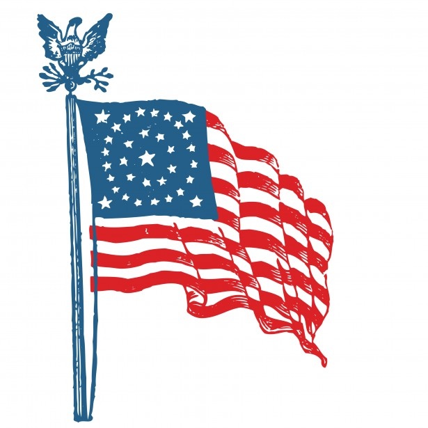 Us flag craft clipart png library stock American flag free clip art from vintage holiday crafts blog ... png library stock
