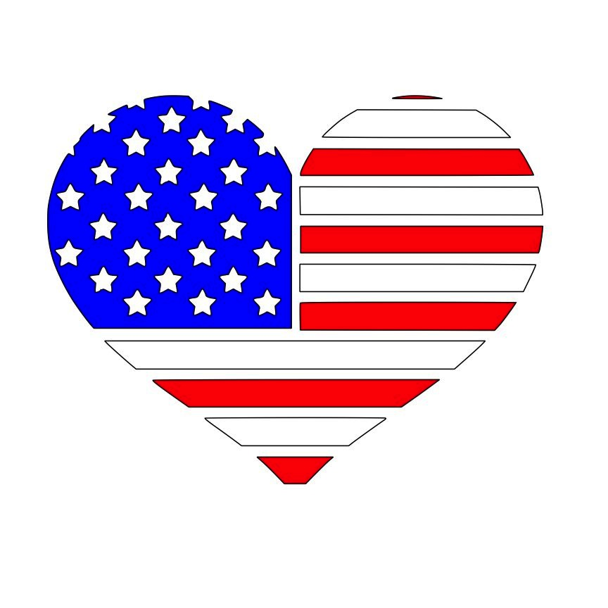 Us flag craft clipart clipart black and white Us flag craft clipart - ClipartFox clipart black and white