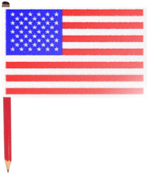 Us flag craft clipart banner black and white Make your own American Flag banner black and white