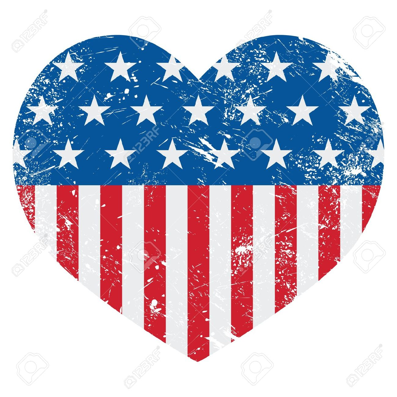 Us flag heart clipart banner free stock Us flag heart vector clipart - ClipartFest banner free stock