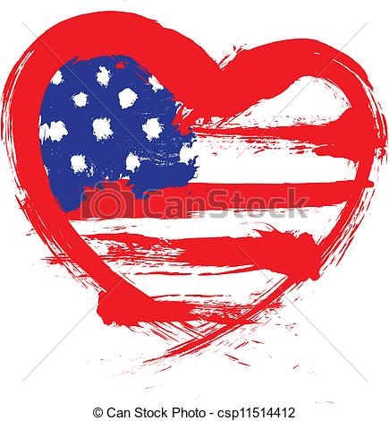 Us flag heart clipart clipart transparent stock Usa shaped american flag clipart - ClipartFest clipart transparent stock