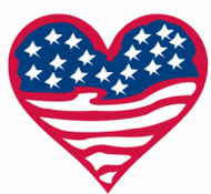 Us flag heart clipart png black and white American Flag With Eagle Clip Art Download 1,000 clip arts (Page 1 ... png black and white