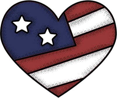 Us flag heart clipart clipart free library American Flag Heart Clipart - Clipart Kid clipart free library