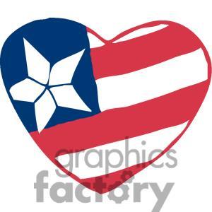 Us flag heart clipart clipart transparent library American Flag Heart Clipart - Clipart Kid clipart transparent library