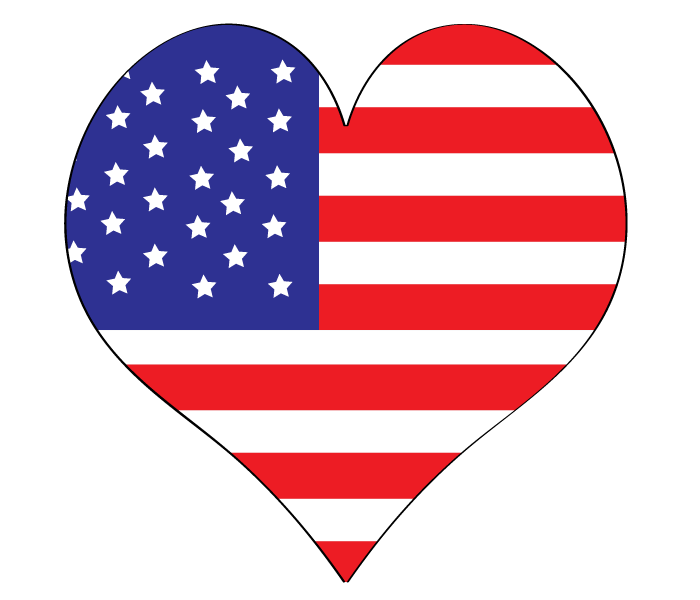 American flag heart clipart jpg black and white stock American Flag Heart Clipart - Clipart Kid jpg black and white stock