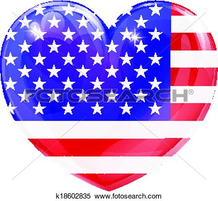Us flag heart clipart transparent download Clipart of USA flag love heart k18602835 - Search Clip Art ... transparent download
