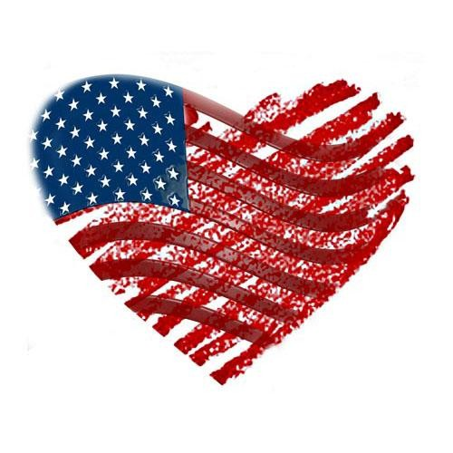 Us flag heart clipart clip art free library Heart Shaped American Flag - ClipArt Best clip art free library