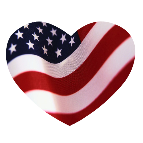 Us flag heart clipart svg freeuse stock American Flag Heart Clipart - Clipart Kid svg freeuse stock