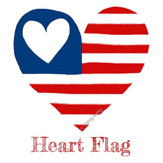 Us flag heart clipart clip art transparent library Usa flag heart clipart - ClipartFest clip art transparent library