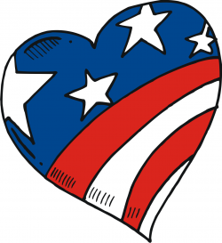 Us flag heart clipart png transparent library American Flag Heart Clipart - Clipart Kid png transparent library