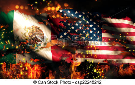 Us flag mexian flag clipart clip art library library American flag on fire clipart - ClipartFest clip art library library