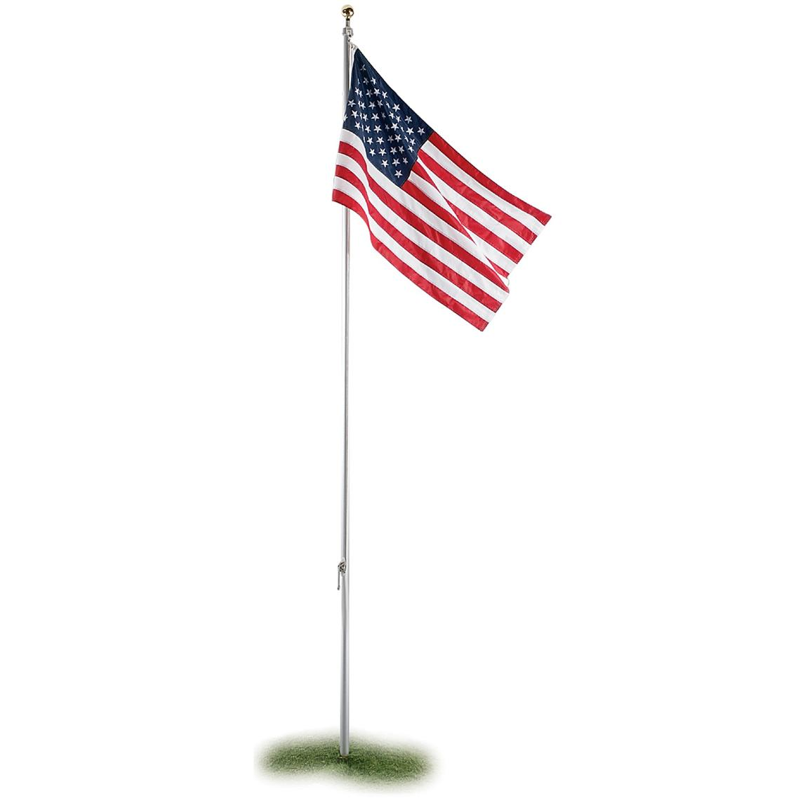 Us flag pole clipart vector freeuse download Flag Pole Clipart - Clipart Kid vector freeuse download