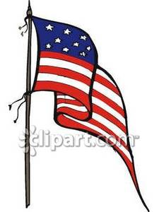 Us flag pole clipart clipart library library American flag on a pole clipart - ClipartFest clipart library library