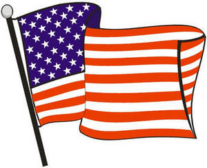 Us flag pole clipart picture black and white stock Us flag pole clipart - ClipartFest picture black and white stock